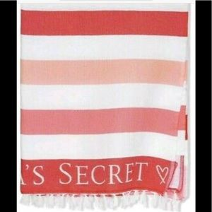 Victoria's Secret Striped Beach Blanket/Towel New